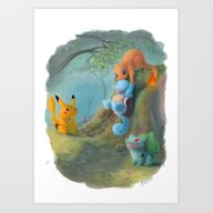 Art Print featuring Pokemon by Penny-Dragon