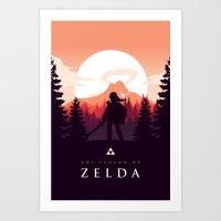 The Legend of Zelda - Orange Version Art Print
