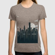 New York City Womens Fitted Tee Tri-Coffee SMALL