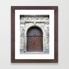 Dutch door Framed Art Print