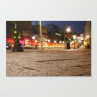 Downtown Blacksburg Christmas Canvas Print