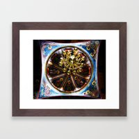 Frescoed Dome and Chandelier, Hilandar Monastery, Mount Athos, Greece Framed Art Print