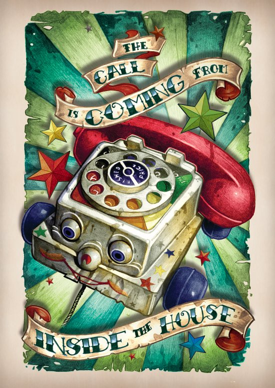 """The Call is Coming from Inside the House"" Art Print"
