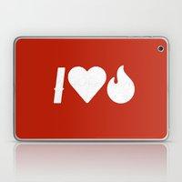 I Love Fire Laptop & iPad Skin
