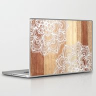 Laptop & iPad Skin featuring White Doodles On Blonde … by Micklyn