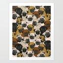 Social Pugz Art Print