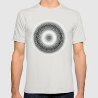 WINTER LEAVES MANDALA Mens Fitted Tee Silver SMALL