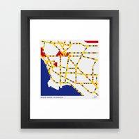 BOOGIE WOOGIE LOS ANGELES Framed Art Print