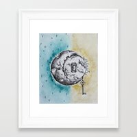 SUN/MOON Framed Art Print
