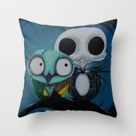 The Owl Jack And Sally Throw Pillow