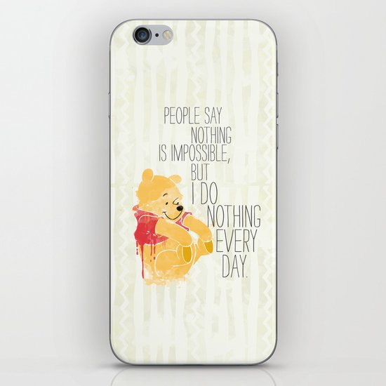 I do nothing every day iPhone & iPod Skin