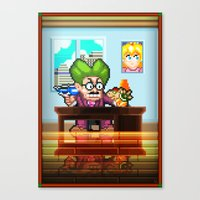 Pixel Art series 8 : My Mayor Canvas Print
