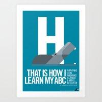 Animal Alphabet H Art Print
