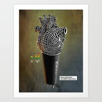 CRZN Dynamic Microphone … Art Print