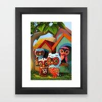 Owl City Framed Art Print