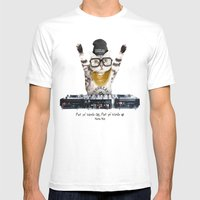 Thug Cat Mens Fitted Tee White SMALL