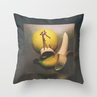 Jack Bananaton Throw Pillow