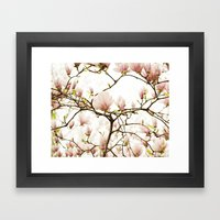 Queen For A Day Pink Magnolia Flower Framed Art Print