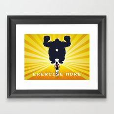 Exercise more. A PSA for stressed creatives. Framed Art Print