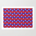 Chevron Star Spangled Banner Art Print