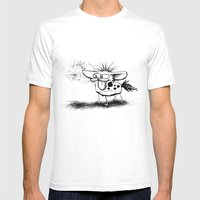 Hyena And The Spider Whi… Mens Fitted Tee White SMALL