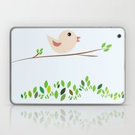 Bird Illustration Laptop & iPad Skin