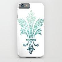 Fleur De Lis - French - Blue iPhone 6 Slim Case