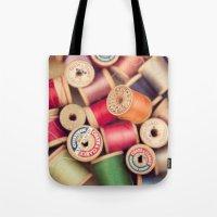 vintage spools Tote Bag