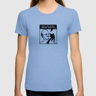 SPACE BLASTER Panel 2 (v… Womens Fitted Tee Athletic Blue SMALL