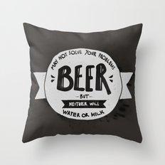 Beer Throw Pillow