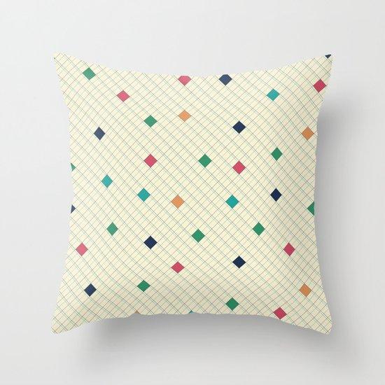 Coloured Diamonds Throw Pillow