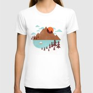 Indian Summer Womens Fitted Tee White LARGE