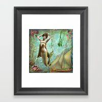 Life In The Deep Blue Se… Framed Art Print
