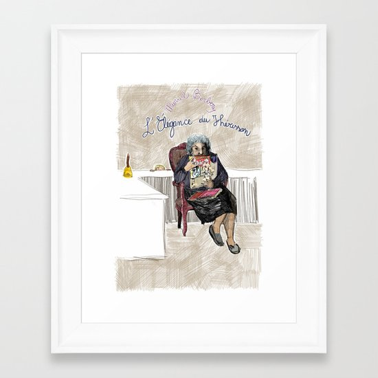 L'élégance du hérisson (Muriel Barbery)- COVERS OF BOOKS THAT NOBODY ASKED ME TO ILLUSTRATE N.1 Framed Art Print