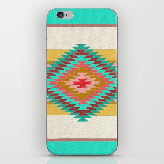 FIESTA (teal) iPhone & iPod Skin