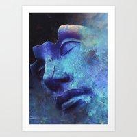 Strange Face Art Print