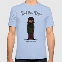 bad hair day no:1 / Planet of the Apes Mens Fitted Tee Tri-Blue SMALL