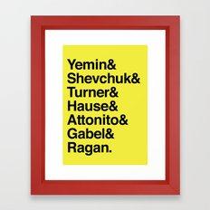 PUNK-ROCK'S FINEST Framed Art Print