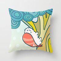 Only Sushi Insect Throw Pillow