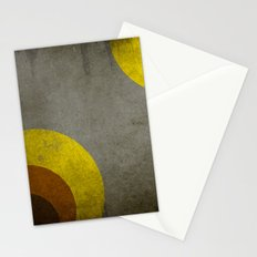 Abstract retro circle Stationery Cards