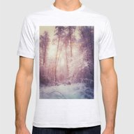 My Magic Forest Mens Fitted Tee Ash Grey SMALL