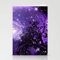 Trees, Stars And Lavende… Stationery Cards