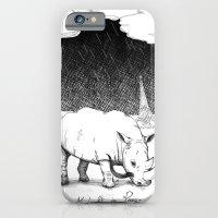 iPhone & iPod Case featuring  Rhino during Midnight in Paris by QQO / Quattrequattrotto