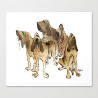 Hounds Canvas Print