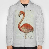 Colourful Flamingo  Hoody