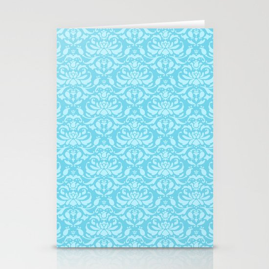 Cloud Factory Damask - Luna Bee Stationery Card