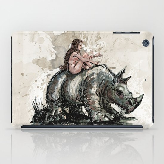 The Girl and the Rhino iPad Case