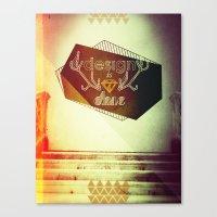 design is chic Canvas Print