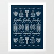 Who's Sweater Art Print