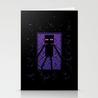 Here comes the Enderman! Stationery Cards
